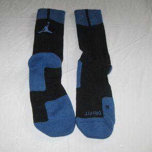 Jordan Basketball Socks Blue New